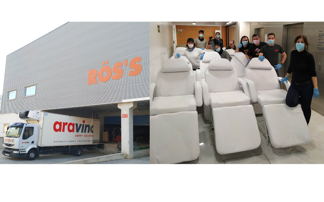RÖS'S Estética dona 30 camillas al Hospital Parc Taulí de Sabadell