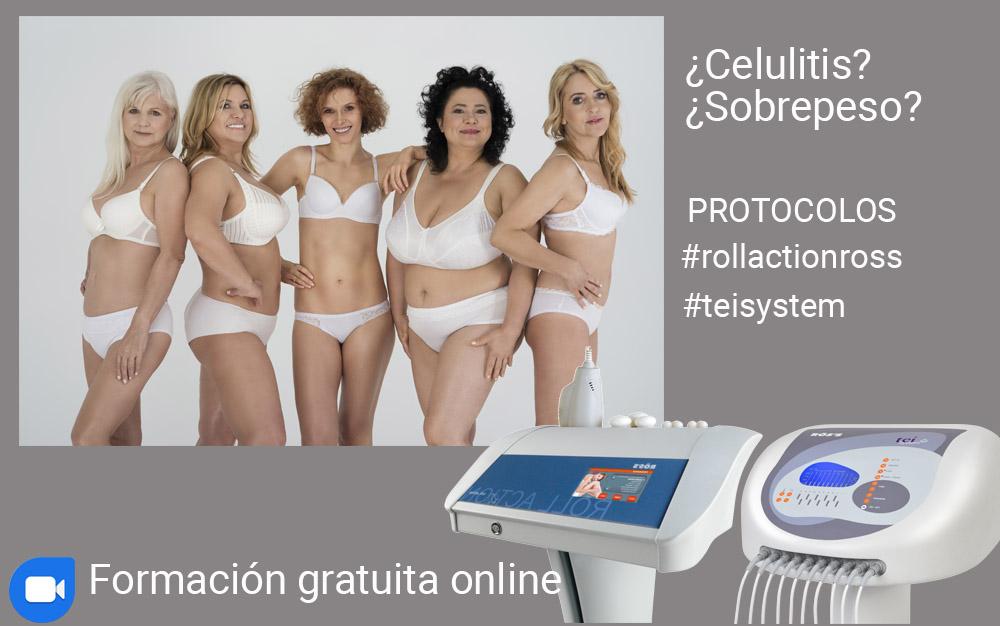 ROSS Webinar online sobre tratamientos contra PEFE o celulitis y sobrepeso con Rollaction y termoestimulación Tei System