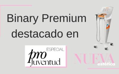 Nueva Estética destaca Binary Premium en su dosier especial Pro-Juventud